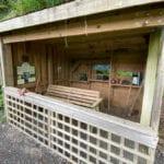 Observation hide made of wood